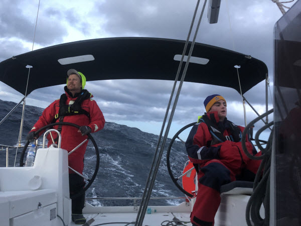 Father and son Vs Bass Strait in the Beneteau Oceanis 35