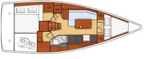 oceanis 35.1 - 2C 1T - L - Side Galley