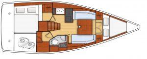 oceanis 35.1 - 2C 1T - L - Shape Galley