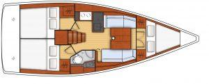 oceanis 35.1 - 3C 1T - L - Side Galley