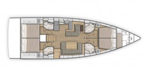 Flagstaff - Beneteau Oceanis 51.1 First Line Layout 5