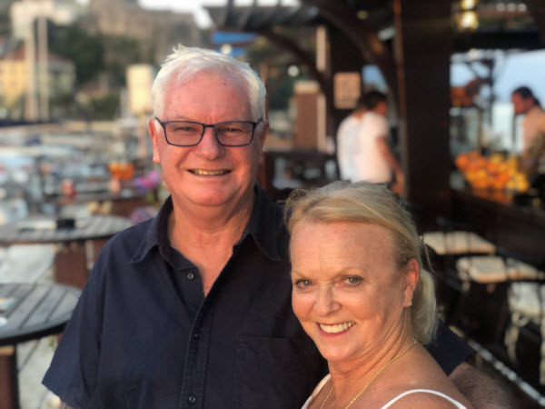 Ian and Andrea Treleaven – Enjoying a European cruise